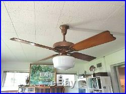 100 Year Old Copper Hunter C17 Antique Electric Ceiling Fan-vintage-rustic Cabin