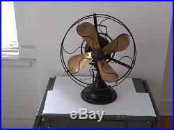 12 Antique Vintage General Electric Brass Blade GE Fan