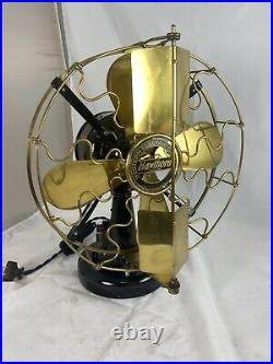 12 Western Electric Hawthorn Brass Blade And Cage Vane Fan