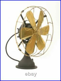 14 Blade Electric Desk Fan Oscillating Orbit Work 3 Speed Vintage Antique style
