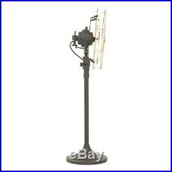 14 Brass Blade Electric Stand Fan Orbital Oscillate Work Vintage Antique style