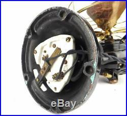 16 Diehl Circa Antique Large Motor Trunnion Mount Brass Desk Fan