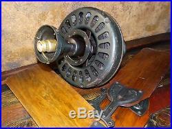 18385 Antique 1920s General Electric Ceiling Fan w Orig Blades type AH / AF1
