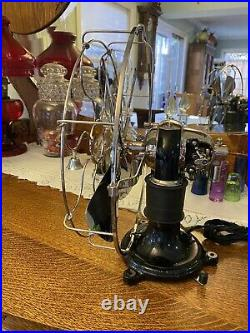1897 Restored 12 Western Electric Nickel Brass Blade And Cage Bipolar Fan