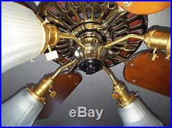 1906 Hunter Tuerk Ceiling Fan-antique-vintage- Restored -110 Years-lifetime Guar