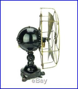 1910 12 Jandus Ball Motor Desk Fan Antique Brass Electric