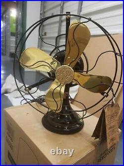 1919 Antique GE Brass 12 Fan