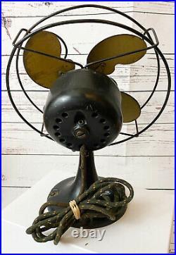 1921 Emerson Jr Metal Fan Bullwinkle Blades Original Antique Electric Works