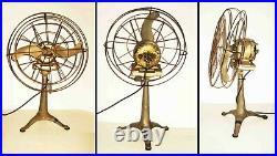 1930s Deco TRIPOD LEG Mount Industrial WESTERN ELECTRIC FAN /AIRPLANE PROP BLADE