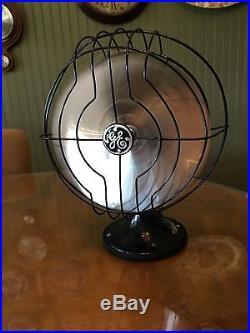 1932-34c. General Electric Oscillating Antique GE Quiet Blade Desk Fan RESTORED