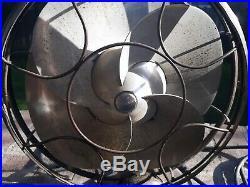 1934 Antique Emerson Silver Swan 12-inch Blade Art Deco Electric Fan