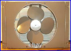 1940's ANTIQUE ART DECO LARGE EMERSON ELECTRIC WINDOW FAN WORKS GREAT 2 Spd. REV