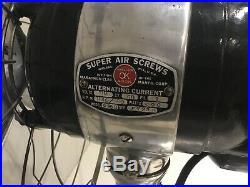 22 Marathon Super Air Screw Circulator Large Antique Fan