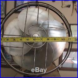 3 spd, WORKS WELL! 1934-1936 Emerson silver swan antique vintage electric fan