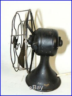 6 Western Electric Desk FAN Antique Early 1900s vtg Brass-Finish Blade WORKS