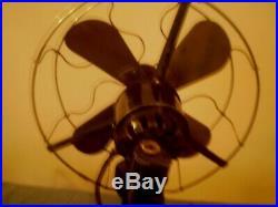 AEG Antiques Original Desk Black Electric Fan WORKS Old Vintage