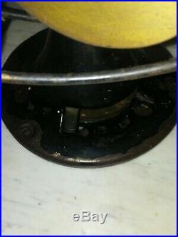 ANTIQUE 12EMERSON 71666 3SPD. OSC. 6 BRASS BLADE FAN MADE IN U. S. A 1920's