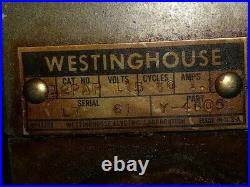 ANTIQUE 6 ft INDUSTRIAL HEAVYWEIGHT WESTINGHOUSE FLOOR STAND FAN