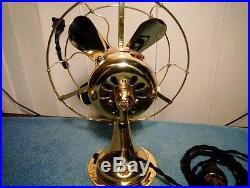 Antique 8 Ge All Brass Fan