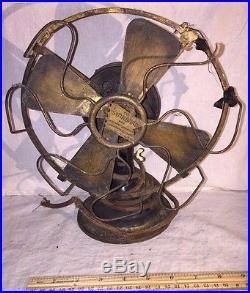 Antique 8 Inch Blade Robbins Myers The Standard Ac Electric Fan Vintage Project
