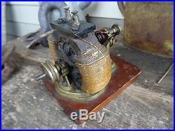 Antique Electric Bipolar Motor / Dynamo Cast Brass Open Frame Edisonteslage