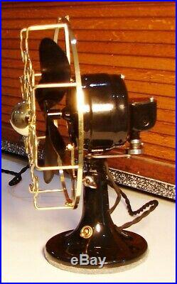 ANTIQUE ELECTRIC FAN ROBBINS & MYERS LIST 705 Brass Cage E. U. UK. 220 Volt A. C