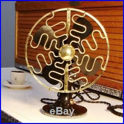 ANTIQUE ELECTRIC FAN ROBBINS & MYERS LIST 705 Brass Cage Vintage