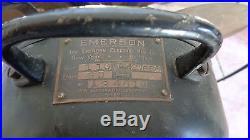 Antique Emerson 6 Brass Blade Fan Type 27666 Type 3 Speed Osalating Works