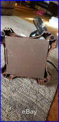 ANTIQUE EMERSON ELECTRIC 47 CAST IRON PEDESTAL FAN MODEL Brass Blades