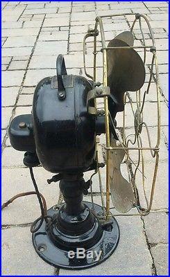 Antique Emerson Fan Brass Blade & Brass Cage Type 21666 All Original Rare