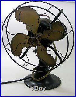 Antique Emerson Model 29646 Parker Brass Blade Electric Table Fan