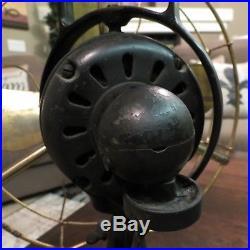 ANTIQUE GE General Electric AO BRASS BLADE OSCILLATING Fan WORKS Alt. Current