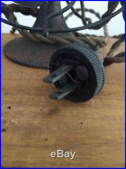ANTIQUE GENERAL ELECTRIC 6 BRASS BLADE FAN SERIES F. AC/DC Motor. All Original