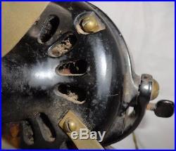 ANTIQUE GENERAL ELECTRIC GE BRASS 3 SPEED 12 FAN PAT. 1895 works