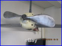 ANTIQUE HARD TO FIND VINTAGE 1930s AIRPLANE CEILING FAN THE FAN O PLANE