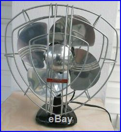 ANTIQUE/VINTAGE/DECO 30's ELECTRIC OSCILLATING FAN-PROFESSIONALLY RESTORED