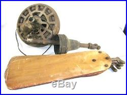 ANTIQUE VINTAGE DIEHL CEILING FAN AC ELECTRIC with BLADES CAST IRON INDUSTRIAL