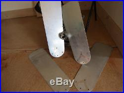 ANTIQUE VTG DIEHL CEILING FAN ELECTRIC with BLADES STAINLESS STEEL INDUSTRIAL