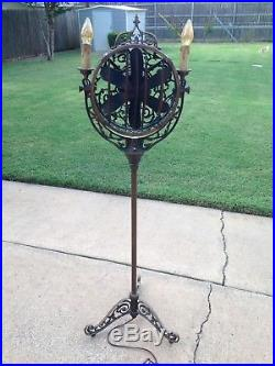 ANTIQUE Victor LUMINAIRE Electric Funeral Fan / Light