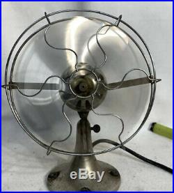 ANTIQUE WORKING NICKEL / CHROME PLATE 10 FITZGERALD STAR RITE FAN Style 1200