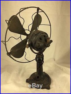 Antique 10 Ercole Marelli 10 Brass Desktop Fan