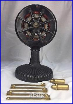 Antique 10 Pole Westinghouse Tesla Fan Base 3854A
