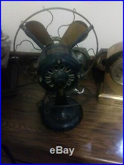 Antique 12 Brass Blade Western Electric Hawthorn Fan W184037