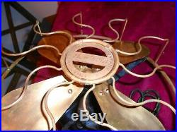 Antique 12 Brass Blade Western Electric Victor HAWTHORN Fan W184034