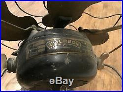 Antique 12 Emerson Fan BRASS BLADES