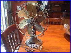 Antique 12 Emerson Fan, Model 71666 With Brass Blades to restore NO RESERVE