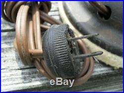Antique 12 GE General Electric brass blade 3 speed oscillating fan