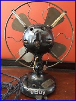 Antique 12 Menominee tab base ball motor fan