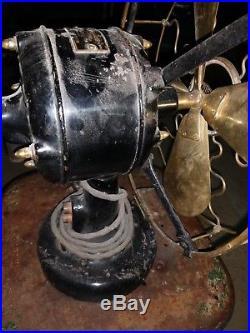 Antique 12 brass westinghouse vane oscillator fan