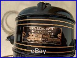 Antique 12 inch Brass Blade Western Electric Hawthorn Fan W184031